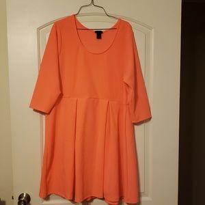 Neon orange Rue 21 2xl dress